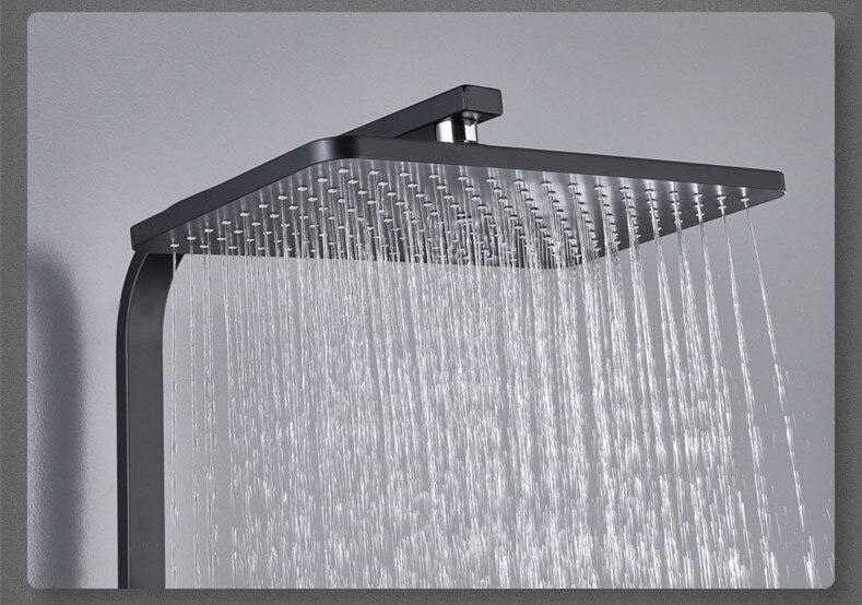 H84dbbf2ad2ec4f73b56421a6ba751346N Digital Shower Set Matte Black Batroom Faucet Hot Cold Bath Shower System Copper Bath Bidet Luxury Black Thermostatic Shower Set