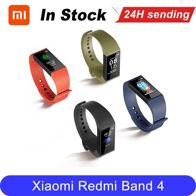 Xiaomi Redmi להקת חכם קצב לב ספורט צג Bluetooth 5.0 עמיד למים צמיד מגע גדול צבע מסך צמיד