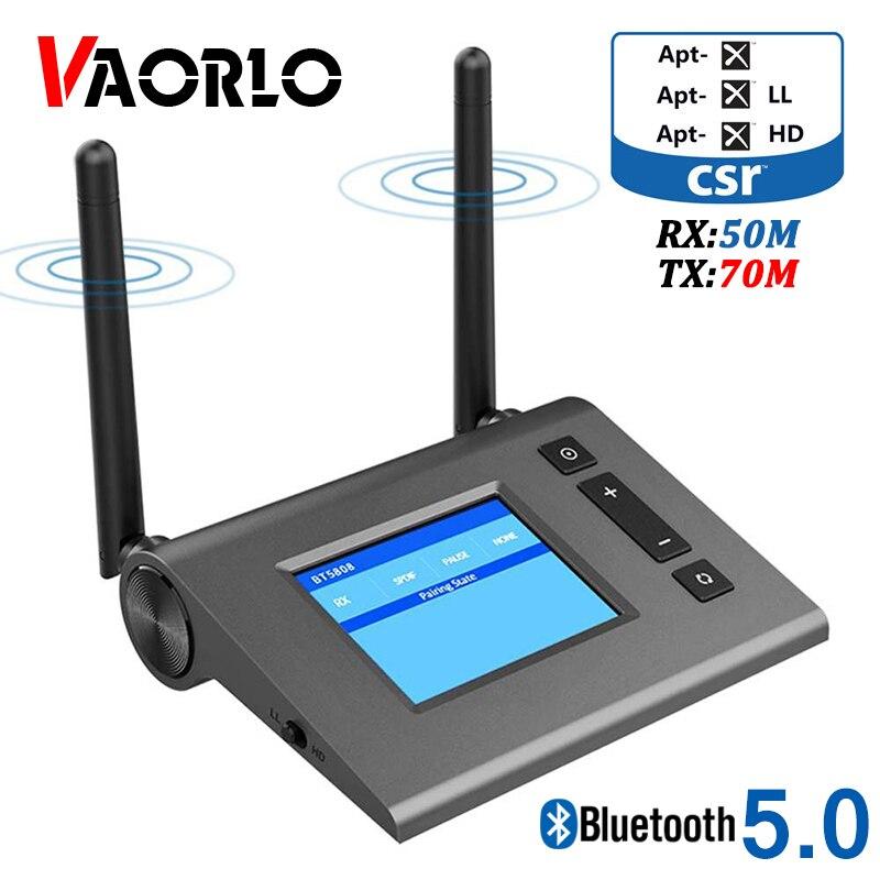 70m Long Range Bluetooth Transmitter Receiver CSR8675 Aptx HD Low Latency Wireless Audio Adapter For TV Spdif Optical AUX 3.5MM
