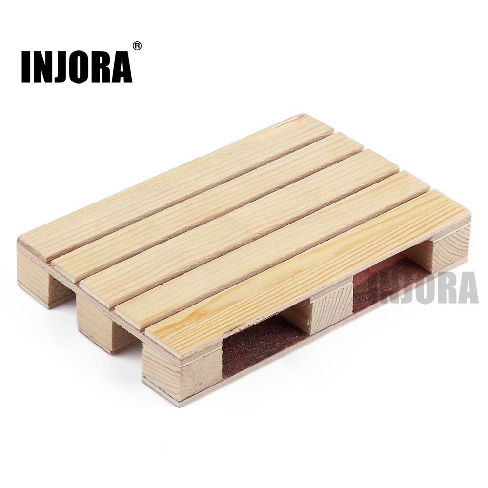 INJORA 1PCS 120*80mm Wooden Pallet Decoration For 1:10 RC Car Crawler Axial SCX10 90046 Traxxas TRX-4 Redcat Tamiya MST