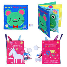 Baby Toys Infant Early Development Cloth Books For Kids Activity Books  Baby Rattles Early Learning Educate Book baby toys infant baby book early development cloth books for kids learning education activity quite books animal tails dinosaur