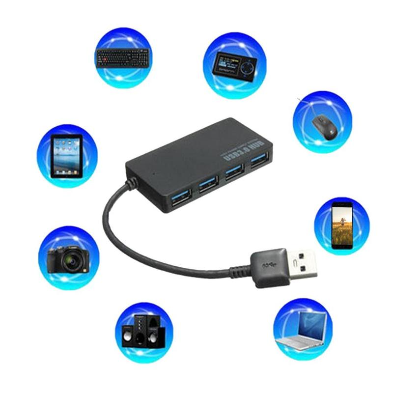 High Speed 4 Ports USB Hub USB 3.0 HUB Splitter Expansion Windows7/8 Mbps Desktop PC Hub Computer 5G Mini For Laptop Adapter Z4K9