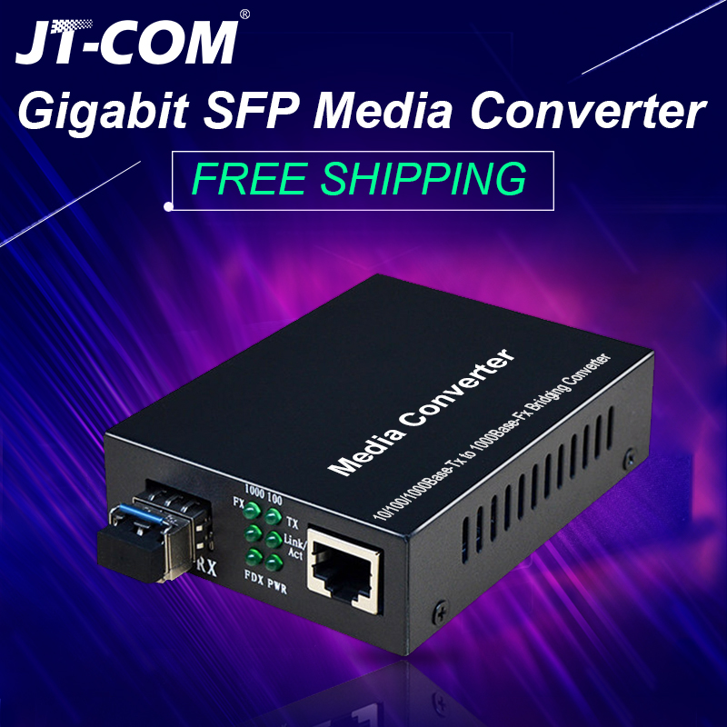 1pair=2pcs Gigabit SFP Fiber to RJ45 Optical Media Converter 1000Mbps Fibra Optica Switch Transceiver with Module SC/LC