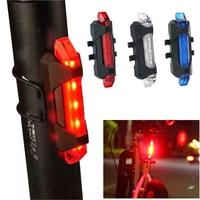 Luz trasera LED de advertencia nocturna para bicicleta de montaña, luz trasera recargable vía USB, accesorios de bicicleta a prueba de agua