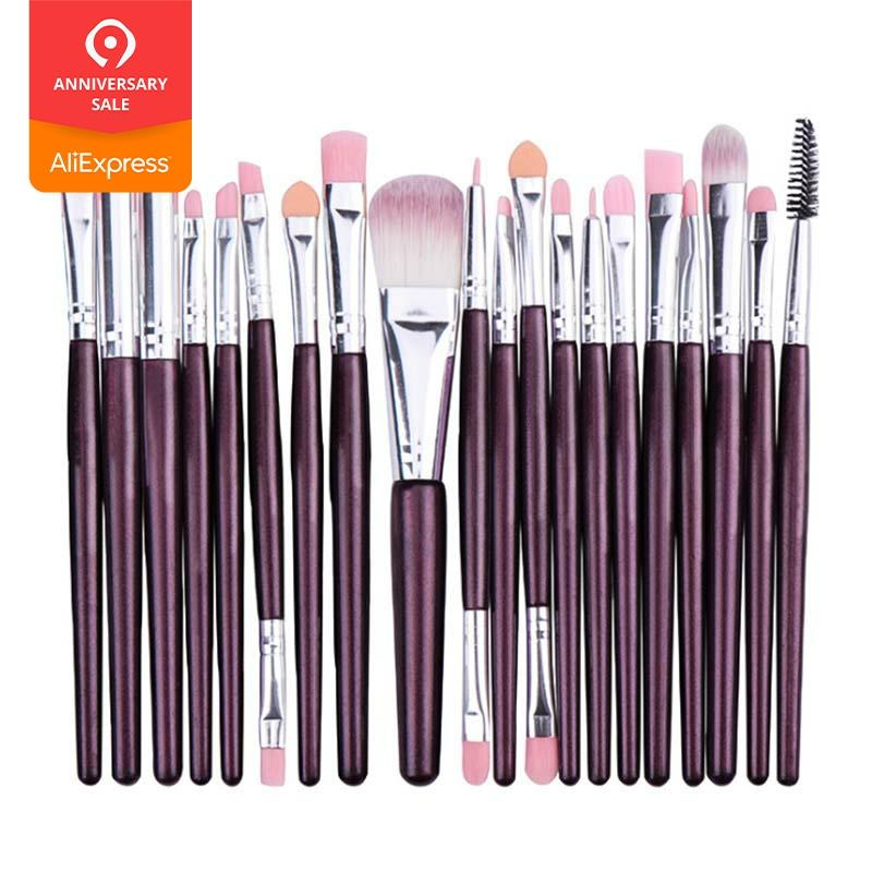 20 Make Up Brush Beauty Makeup Set Eye Shadow Brush Neutral Eye Brush Face Brush With Multi-functional Cosmetic Bag