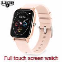 LIGE 2020 nuevo reloj inteligente para mujer 1,4 pulgadas pantalla táctil con frecuencia cardíaca presión arterial deporte multifuncional impermeable Smartwatch