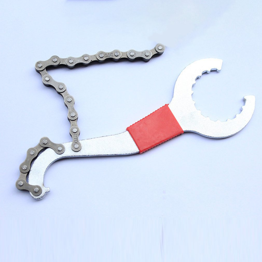 3 In 1 New Hot Convenient Bike Chain Whip Bottom Bracket Freewheel Wrench Repair Remover Tool Chain Disassembly Wrench