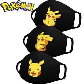 1pcs Pokemon Pikachu Mask Cartoon Anime Maska Children Reusable Washables Dust Proof Mouth Washable Mouths Capsmouth Cute Face m