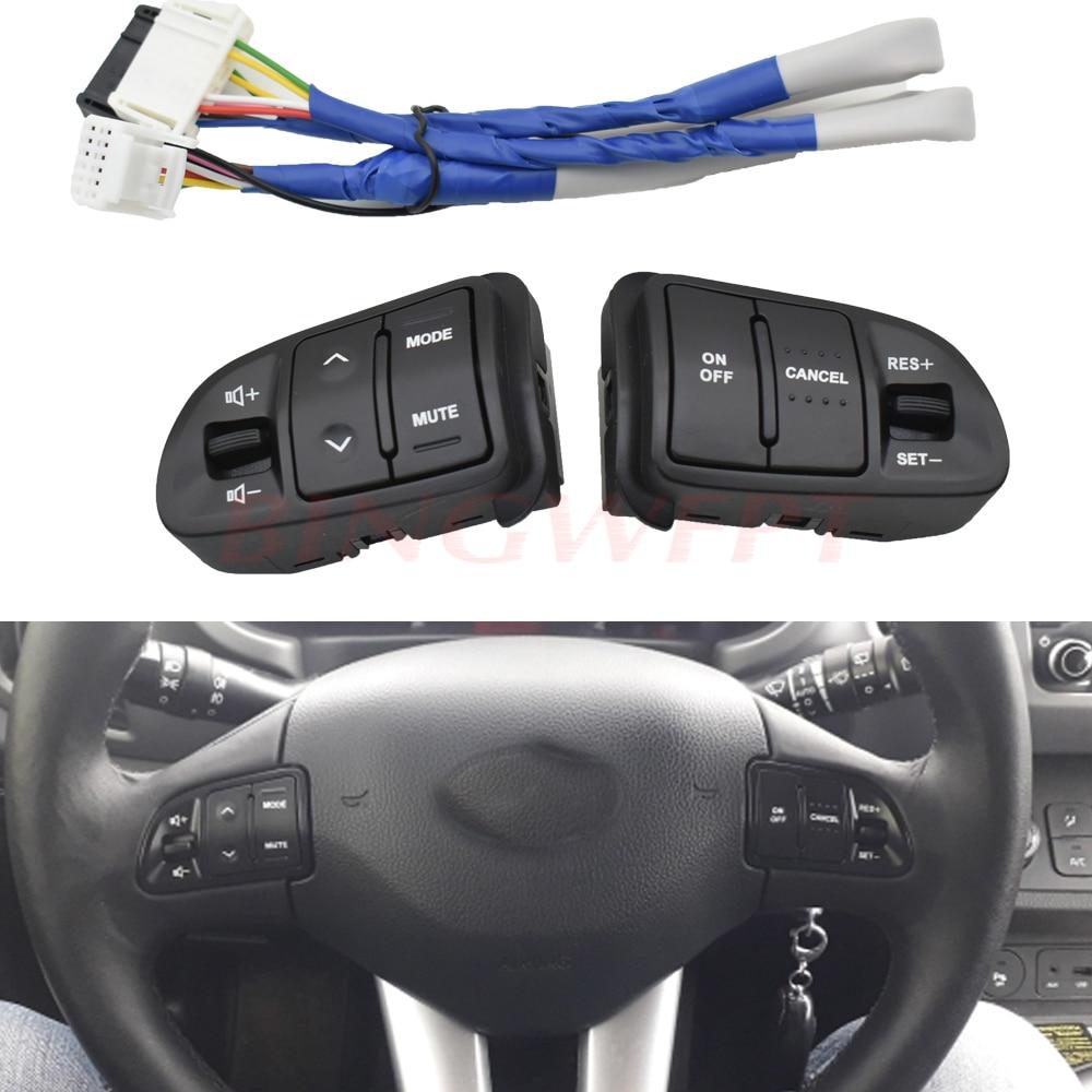 Многофункциональные кнопки управления круиз-контролем на руль для Kia sportage с подсветильник кой автомобильная зарядка автомобильный Стайлин...