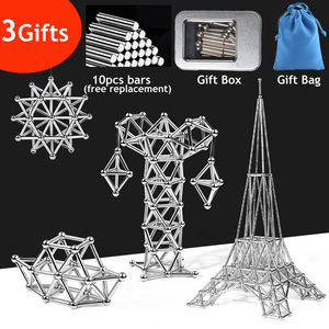 3D DIY Magnetic Building Blocks Magnetic Designer Magnet Sticks & Metal Balls Brain Training Toys For Children Adults Gifts(China)