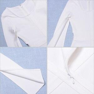 Image 5 - 2020 新夏包帯ドレスの女性有名人パーティー白バットウィングスリーブ o ネックエレガントなセクシーな夜クラブドレス女性 vestidos