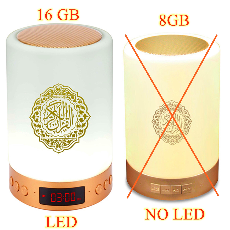 Etiqueta do nome do jogador do alcorão mp3 do alcorão da decoração do muçulmano do presente da luz da noite islâmica do orador do alcorão do azan