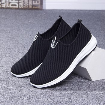 Mesh Men's Lightweight Sneakers 2020 Fashion Casual Walking Shoes Breathable Slip on Mens Loafers Cotton Fabric Comfy Shoes Dad