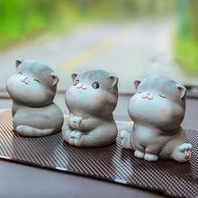 Cartoon Kawaii Cute Kitten Car Accessories for Girls Living Room Bedroom Ornaments Car Pendant Accessories Interior Decoration