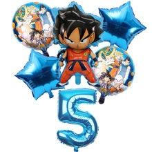 1 conjunto son goku herói tema festa de aniversário decoração bandeira bolo inserção balões crianças festa de aniversário descartáveis utensílios de mesa suprimentos