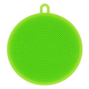 Image 4 - Creative Silicone Dishwashing Sponge Brush Multifunctional Round Silicone Brush Fruit Antibacterial Kitchen Cleaning Pad
