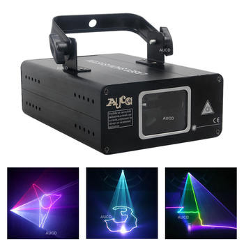 AUCD Mini Portable RGB Full Color Projector Laser Lights 8 Channel DMX Disco DJ Home Party Beam Scaning Show Stage Lighting 507F aucd mini 9 patterns r page 8