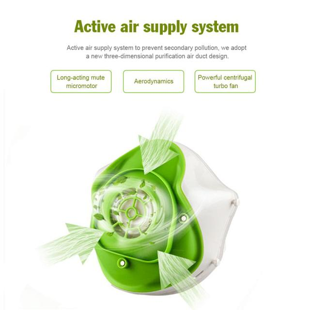 N95 High-efficiency Filtration Electric Mask Four-layer Anti-haze/flu Protective Face Mask Respirator With 2pcs Replace Filters 4