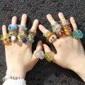 Vedawas модные красочные акриловые смолы Стразы прозрачные кольца для женщин корейские милые блестящие облегающие кольца для пальцев ювелирн...