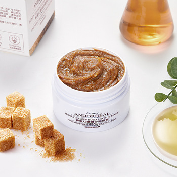 Honey Brown Sugar Scrub Mask Whitening Cream Mildly Cleanses Keratine Moisturizes mud face masks skin care face mask foreo farm to face collection mask for face manuka honey