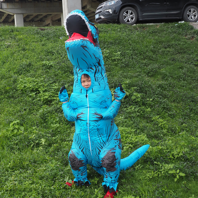 Anime Cospaly Men T REX Inflatable Dinosaur Costume Adult t-rex Mascot Costume Adultos Halloween Dinosaur Costume for Kids Women (5)