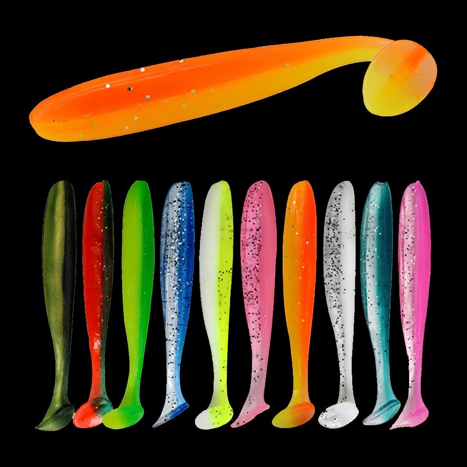 Ходить рыбы мягкие приманки 10 шт, дергающаяся воблеры приманки для рыбалки 90 мм 70 мм/55 мм/T-хвост искусственная силиконовые приманки рыболов...