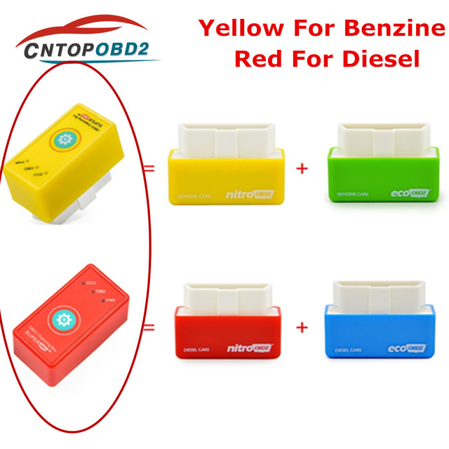 SuperOBD2 Chip tuning Box OBDII Interface Plug and Drive OBD for diesel Save More Torque Power Than NitroOBD2 EcoOBD2