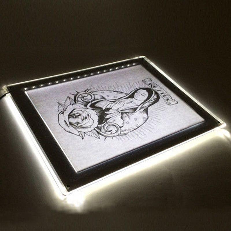 LED Tracing Light Box Board Artist Tattoo A4 Drawing Pad Table Stencil Display D08B