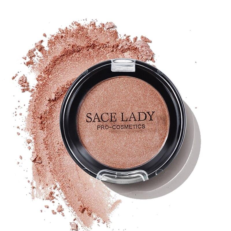 1 Pcs Shining Blush Smooth Makeup Face Contour Pink Orange Blusher Dropshipping SMJ