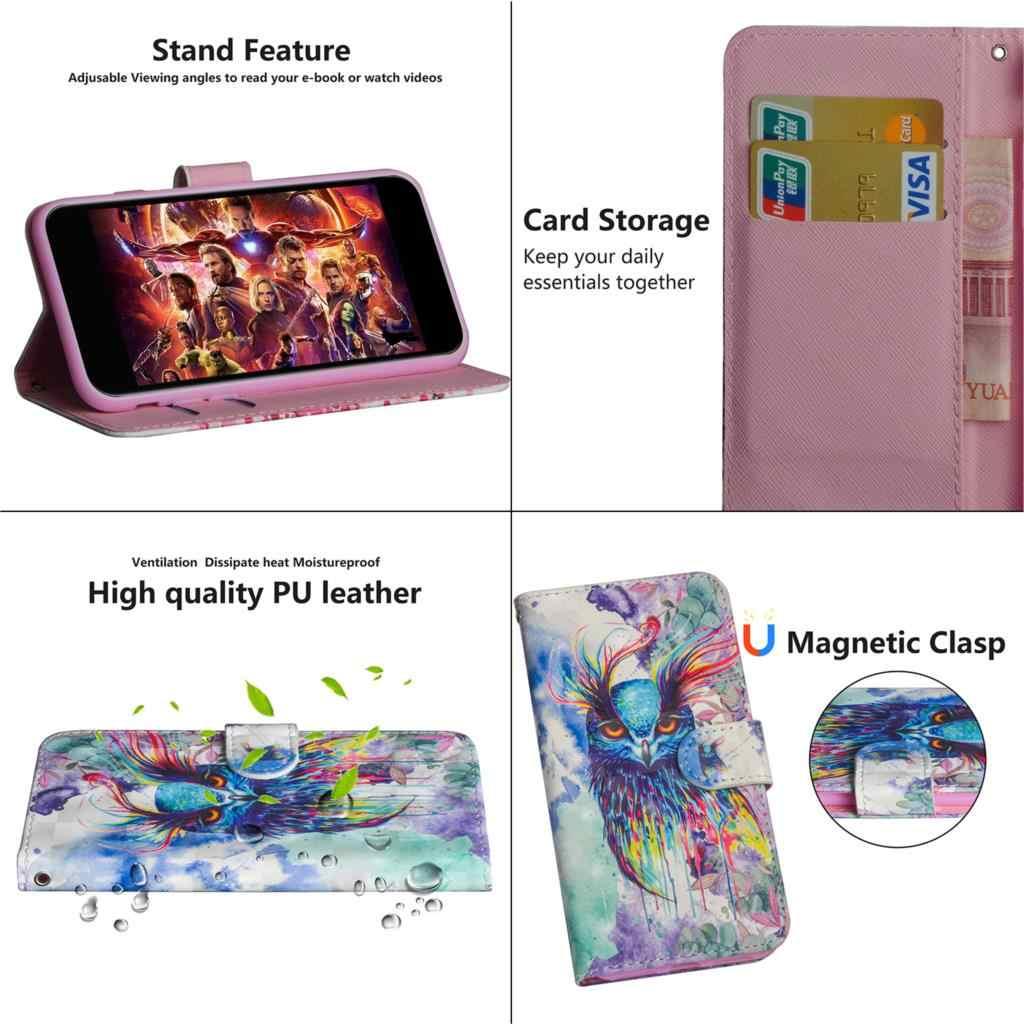 De lujo de Coque para OPPO A9 2020 cartera Flip caso de cuero de la caja del teléfono del estilo para OPPO A5 2020 A11X cubierta flip estilo con soporte