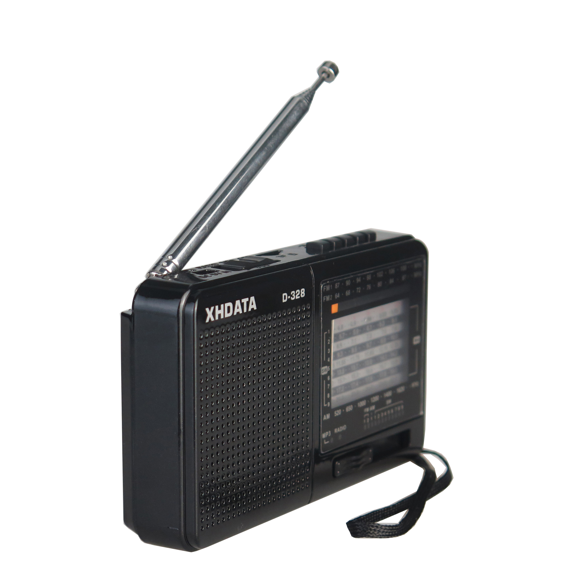 XHDATA D-328 Portable Radio FM AM SW MP3 Player Rechargerable With TF Card Jack