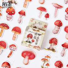 20packs/lot Fashion More Popular Mushroom Collection Boxed Stickers Cute Diary Paper Travel Lifelog Scrapbooking Stickers