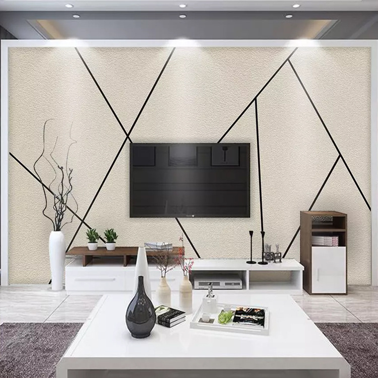 3D TV Backdrop Wallpaper Mural Living Room Bedroom Simple Non-woven Wallpaper Mural Seamless Wallpaper Plant