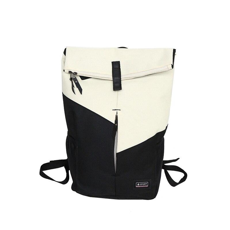 TTOU Simple Canvas Schoolbag Backpack For Girls Teens Leisure Men Laptop Bagpack Travel Bag Patchwork Rucksack School Bag Backpacks     - title=