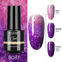 ROSALIND 7ML Gel Nagellack Temperatur Farbwechsel Glitter Nail art UV Semi Permanent Glanz Nagellack Für Maniküre