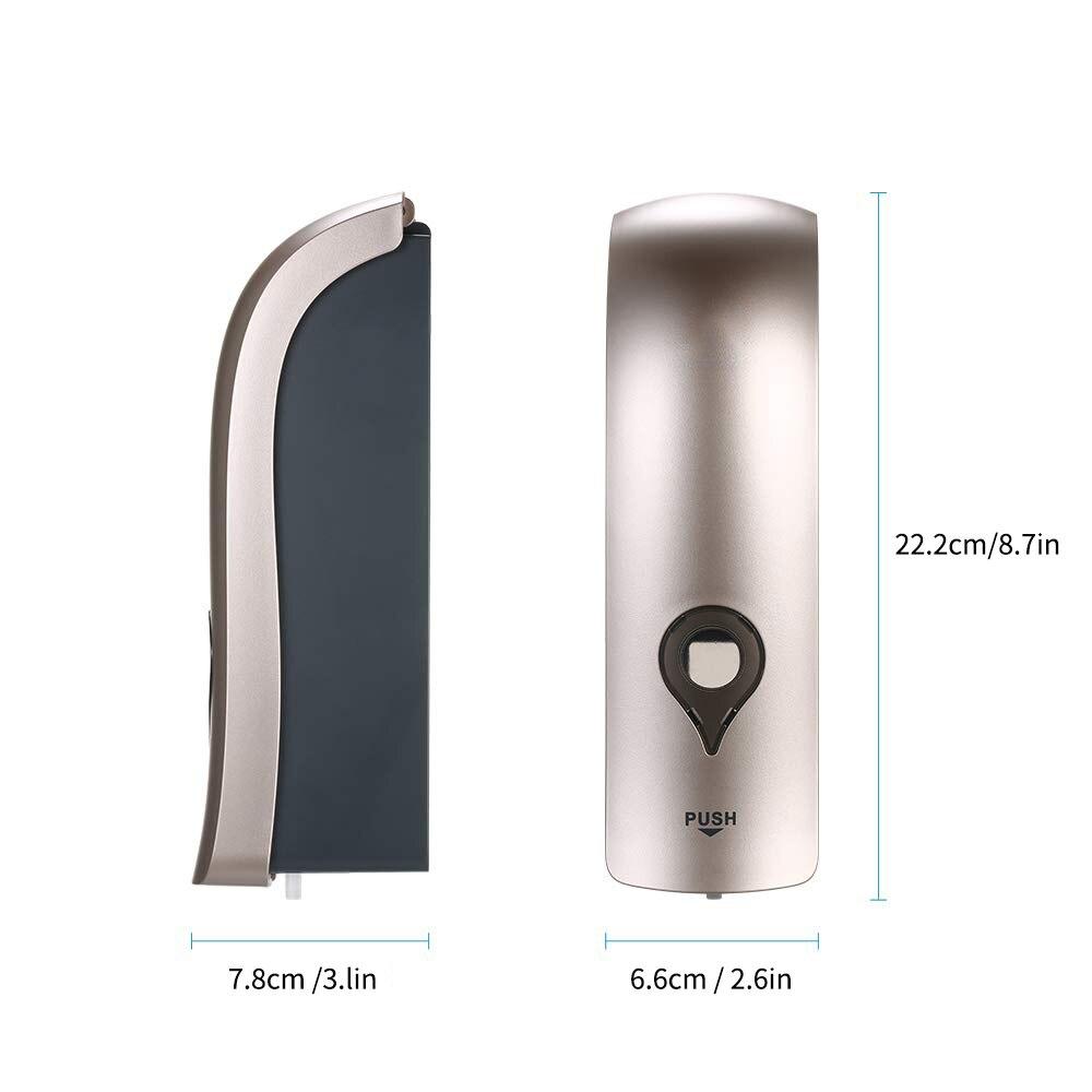 H84defdbaf1e54d038166b7c98b3fc791Q Wall Mounted Single Head Wall Soap Dispenser Shower Gel Liquid Shampoo Disinfectant Dispenser Holder 300 ML For Hotel Home