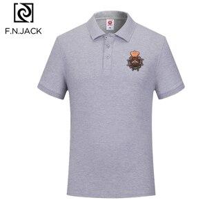 Image 2 - F.N.JACK Polo à manches courtes pour homme, modèle tendance classique en coton, couleur unie, été, décontracté