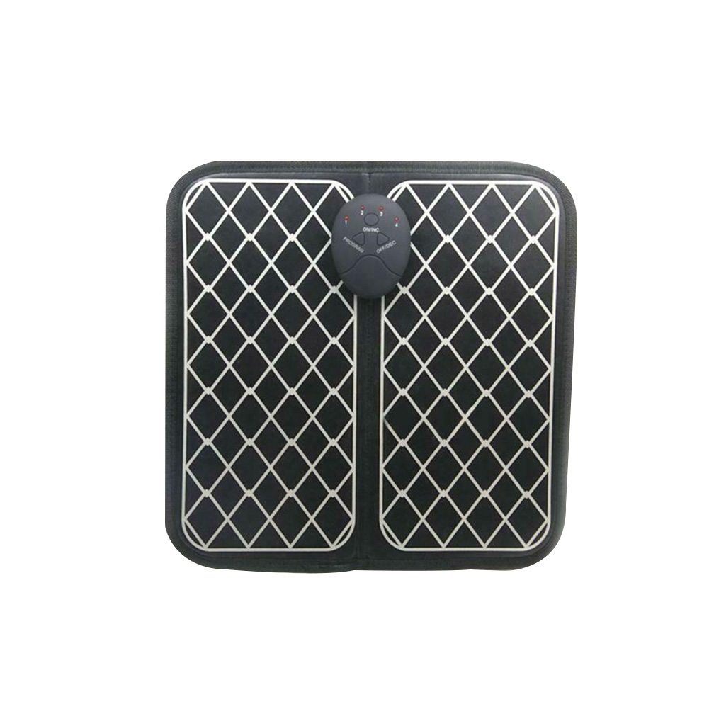 Relax Electric Vibrate Blood Circulation Pain Relief Wireless Stimulator Foldable Full Automatic EMS Foot Massager Pad Home