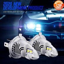 NOVSIGHT-bombillas de faro delantero de coche, H4 Led 9003 HB2 Hi/Lo Mini, diseño 1:1, 70W, 12000LM, 6000K, accesorios para automóviles, bombillas, blanco