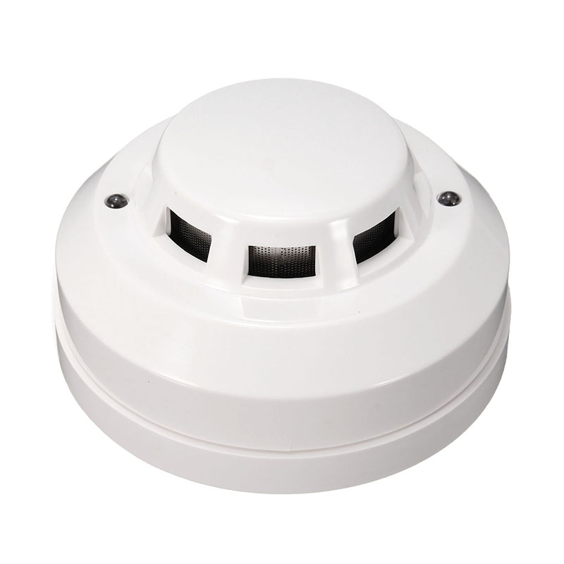 1pc White 12V DC Wireless Smoke Detector Sensor Use To Check The Fire Or Something That Burns To Connect By Cable Zone