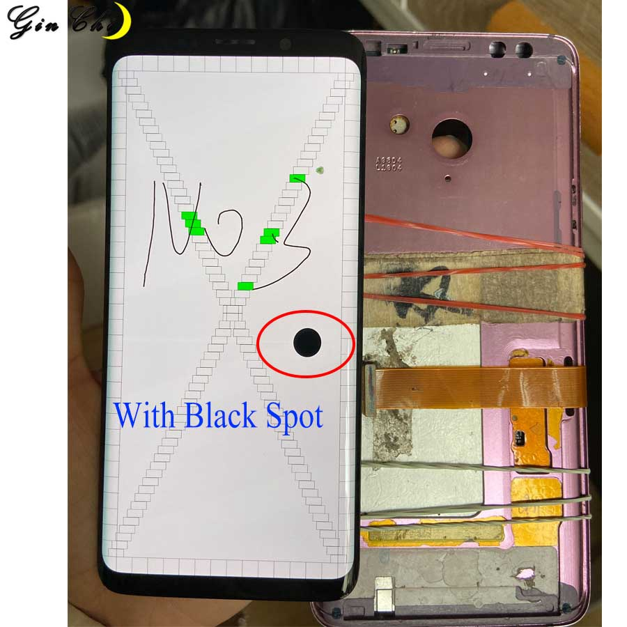AMOLED For Samsung S9 LCD Display Touch G960 G965 LCD Display For Samsung S9 Plus Dead Pixels Lcd Display +Touch Screen Digitize