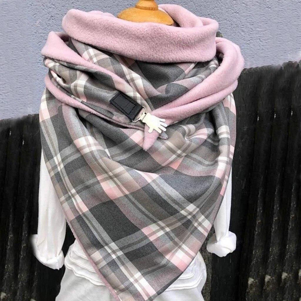 Fashion Scarves Women Soild Dot Printing Button Soft Wrap Casual Warm Scarves Shawls 2020 New шарфов#G1