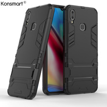 Vivo Y91 Cases Cover TPU+PC Cover For Vivo Y91i Case Stand Hybrid Hard Back Case Vivo Y95 Fundas Vivo U1 6.2 Case KONSMART vivo y91 case cover for vivo y91 magnetic finger ring phone case shell bumper protective hard pc armor case for vivo y91 y95