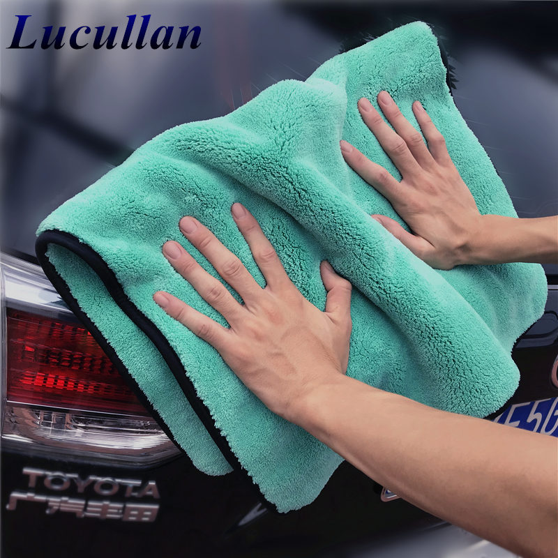 Lucullan 1400GSM Super Soft Premium Microfiber Drying Cltoth Ultra Absorbancy Aqua Deluxe Car Wash Towel