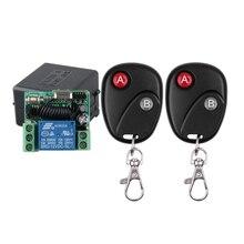 Dc 12 v 10a 1ch sem fio rf interruptor de controle remoto 2 pcs transmissor com bateria + receptor acesso/sistema porta 20 pçs/lote