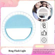 Универсальный селфи светодиод кольцо вспышка свет портативный мобильный телефон 36 светодиоды селфи лампа светящийся кольцо зажим для iPhone 8 7 6 Plus Samsung