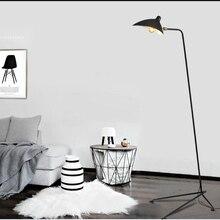 Modern Replica Design Black Floor Lamp Mantis Arm Standing Nordic Loft Industrial Bedroom Decorate