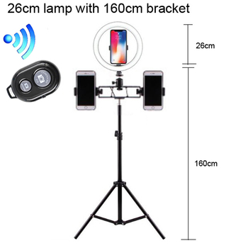 цены Photography Dimmable LED Selfie Ring Light Youtube Video Live 3500-5500k Photo Studio Light With Phone Holder USB Plug Tripod