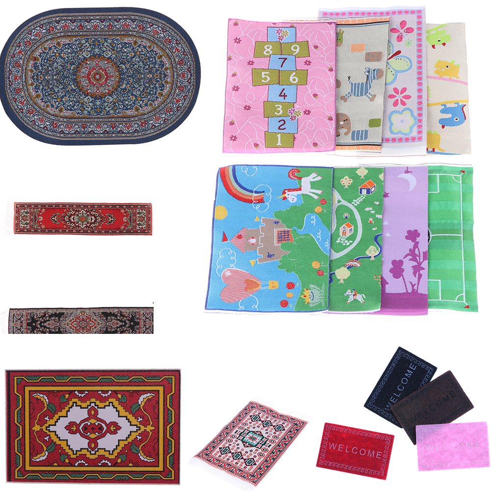 1/12 Scale New Area Rug/Carpet/Mat Floor Coverings For Dolls House Any Rooms Miniature Accessories Dollhouse Furniture Decor