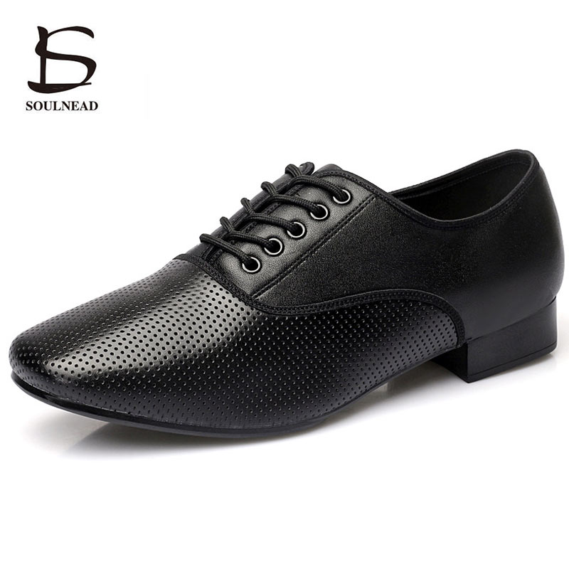 Genuine Leather Men Latin Ballroom Shoes Soft Outsole Men's Salsa Tango Dance Shoes Modern Dancing Shoes Sneakers For Adult Man
